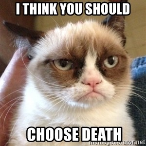 Grumpy Cat 2 - i think you should  Choose Death