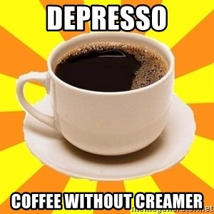 Cup of coffee - depresso coffee without creamer