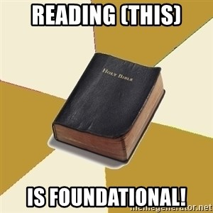 Denial Bible - Reading (this) is FOUNDATIONAL!