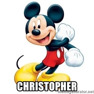 mickey mouse -  christopher