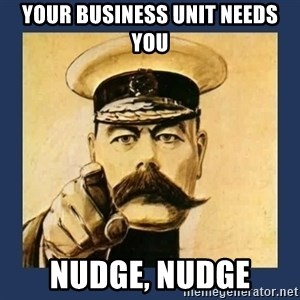 your country needs you - YOUR BUSINESS UNIT NEEDS YOU NUDGE, NUDGE