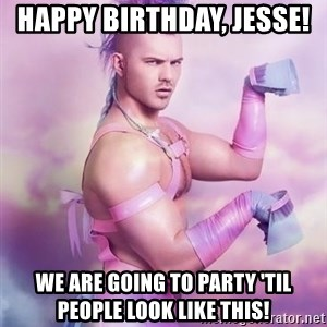 Unicorn Boy - Happy Birthday, Jesse!  We are going to party 'til people look like this!