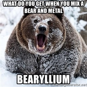 Clean Cocaine Bear - What do you get when you mix a bear and metal Bearyllium
