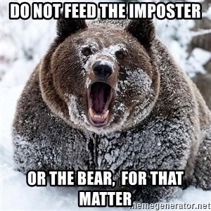 Clean Cocaine Bear - DO NOT FEED THE IMPOSTER Or the bear,  for that matter