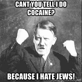 Disco Hitler - cant you tell i do cocaine? because i hate jews!