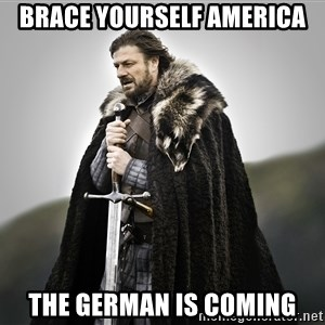 ned stark as the doctor - Brace yourself america The german is coming