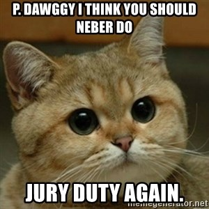 Do you think this is a motherfucking game? - p. dawggy i think you should neber do jury duty again.