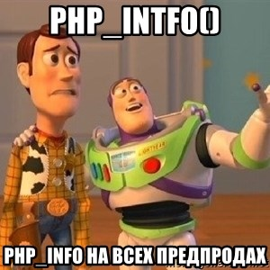 Consequences Toy Story - php_intfo() php_info на всех предпродах