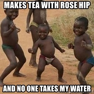 Dancing African Kid - Makes tea with rose hip and no one takes my water