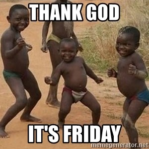 Dancing African Kid - Thank god  it's Friday