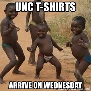 Dancing African Kid - UNC t-shirts  ARRIVE ON WEDNESDAY