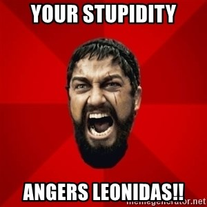 THIS IS SPARTAAA!!11!1 - your stupidity angers leonidas!!