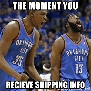 Kd & James Harden - The moment you recieve shipping info