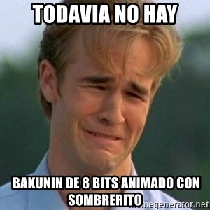90s Problems - todavia no hay  bakunin de 8 bits animado con sombrerito