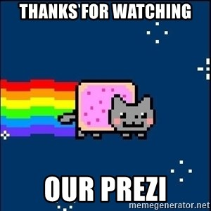 Irresponsible Nyan Cat - Thanks for Watching Our Prezi