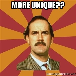 Basil Fawlty - More unique??
