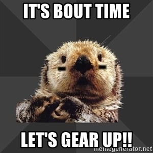 Roller Derby Otter - It's bout time Let's gear up!!