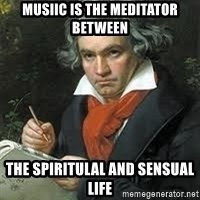 beethoven - Musiic is the meditator between  The spiritulal and sensual life
