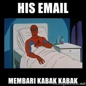 it gave me cancer - his email membari kabak kabak