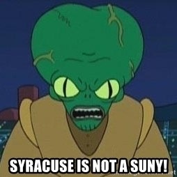 Morbo -  SYRACUSE IS NOT A SUNY!