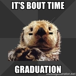 Roller Derby Otter - it's bout time graduation