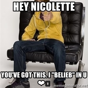 """Justin Bieber Pointing - hey Nicolette  you've got this. I """"belieb"""" in u ❤️"""