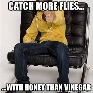 Justin Bieber Pointing - Catch more flies... ...with honey than vinegar