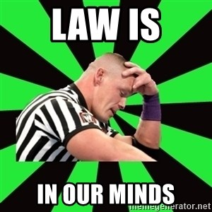Deep Thinking Cena - law is in our minds