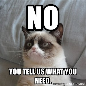 Grumpy cat good - No you tell us what you need.
