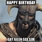 Skyrim Meme Generator - Happy birthday