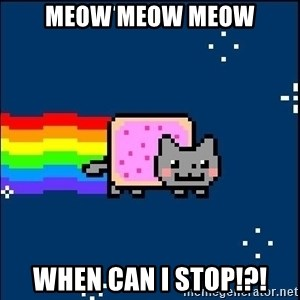 Irresponsible Nyan Cat - MEOW MEOW MEOW WHEN CAN I STOP!?!