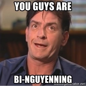 Sheen Derp - You guys are Bi-Nguyenning