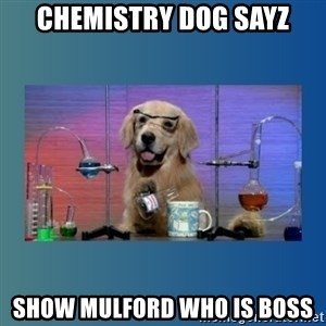 Chemistry Dog - chemistry dog sayz show mulford who is boss