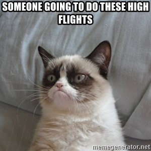 Grumpy cat good - Someone going to do these high flights