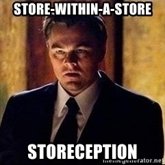 inception - Store-within-a-store STORECEPTION