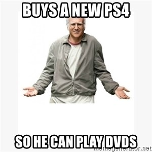 Larry David - BUYS A NEW PS4 SO HE CAN PLAY DVDS