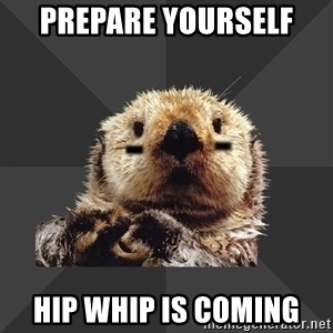 Roller Derby Otter - Prepare yourself  Hip Whip is coming