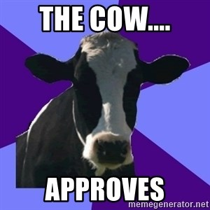 Coworker Cow - The Cow.... Approves