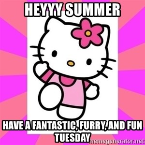 Hello Kitty - heyyy summer have a fantastic, furry, and fun tuesday