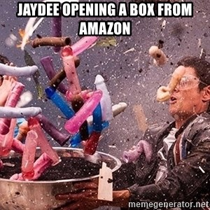 Exploding Dildo - JAYDEE opening a box from amazon