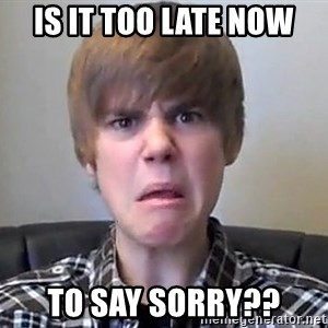 Justin Bieber 213 - is it too late now to say sorry??