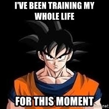 goku - I've been training my whole life For this moment