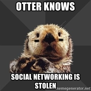 Roller Derby Otter - Otter Knows Social Networking Is Stolen