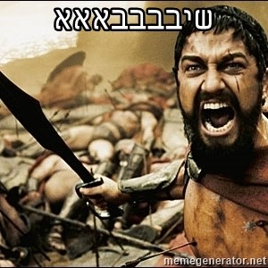 This Is Sparta Meme - שיבבבבאאא