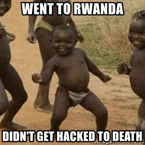 Success African Kid - Went to Rwanda Didn't get hacked to death