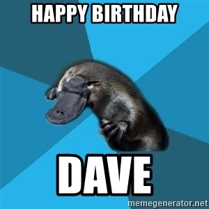 Podfic Platypus - Happy Birthday Dave