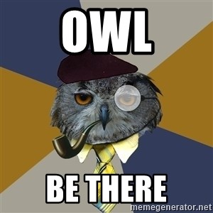 Art Professor Owl - owl be there