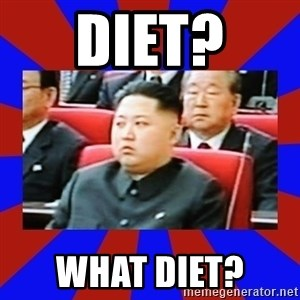 kim jong un - diet?  What diet?