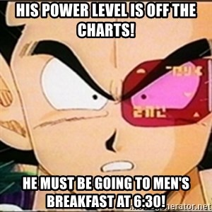 Vegeta's whore detector - His Power level is off the charts! He must be going to men's breakfast at 6:30!