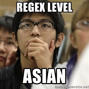 Asian College Freshman - REgex level asian
